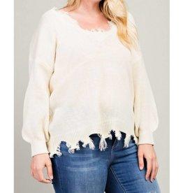 All Around Town Sweater- Cream