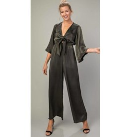 Knot For Now Jumpsuit- Olive