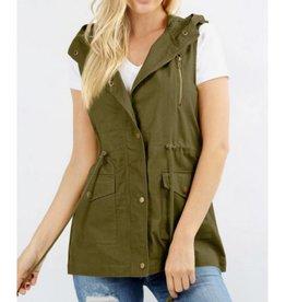 Never Been Better Vest- Light Olive