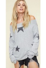 Put On A Show Top- Grey/Charcoal