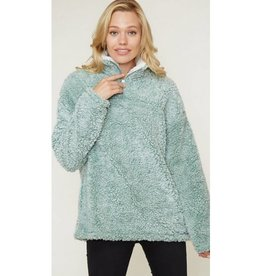 The Crossover Pullover - Sage