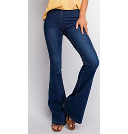 In A Twirl Flare Jeans- Denim