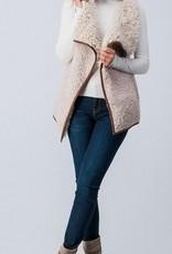 Coziest Dreams Fur Vest- Vanilla