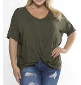 Love Of The Chase Top- Olive