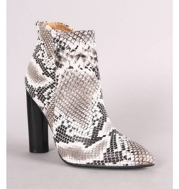 Chic Allure Booties- Snake
