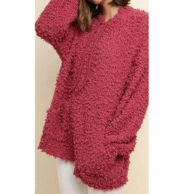 Warmest Embrace Pullover Sweater- Marsala