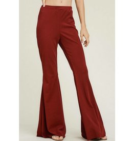 The Entire Package Pants- Burgundy