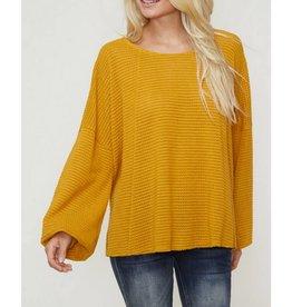 Endless Optimism Sweater- Mustard