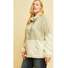The Good Times Sherpa Pullover- Grey
