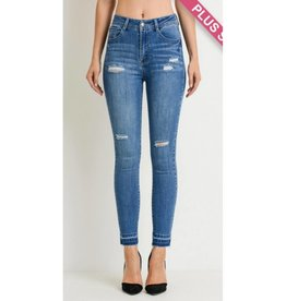 Rely On Love Jeans- Medium Wash