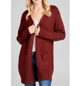 Simple Gifts Cardigan- Burgundy