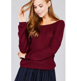 Looking At You Top- Burgundy
