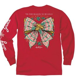 LG-Christmas Bow-Longsleeve-Red