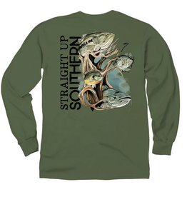 SUS Four Fish Roots-LS-Military Green
