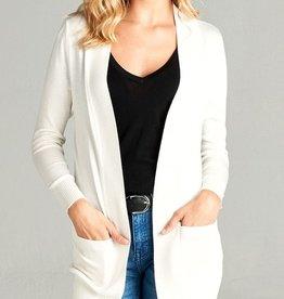 Girl For All Seasons Cardigan- Bright White