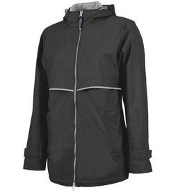 CHARLES RIVER New Englander Rain Jacket Black XSmall