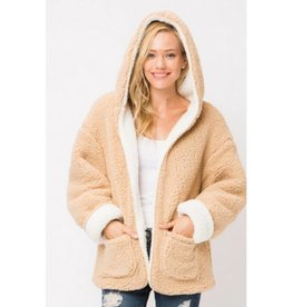 Improve Your Life Fur Cardigan- Ivory/Taupe