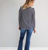 Navy Striped Cardigan