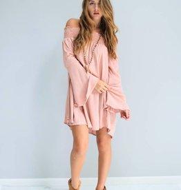 Blush Off-The-Shoulder Dress