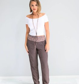 Patterned Drawstring Pants
