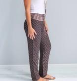 Patterned Drawstring Pants