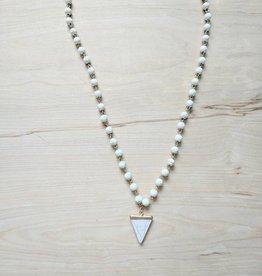 Geometric White Pendant Necklace