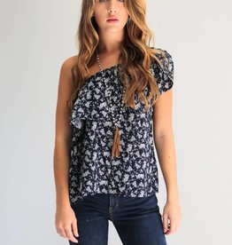 On The Shoulder Floral Top