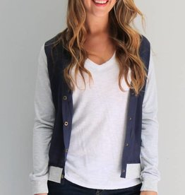 Two-Tone Letterman Jacket