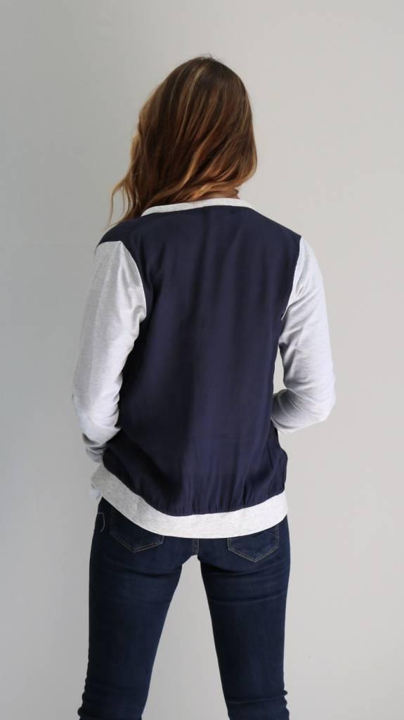 Two-Tone Letterman Jacket