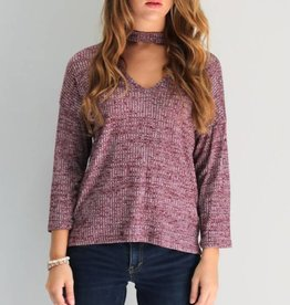 Plum Choker Top