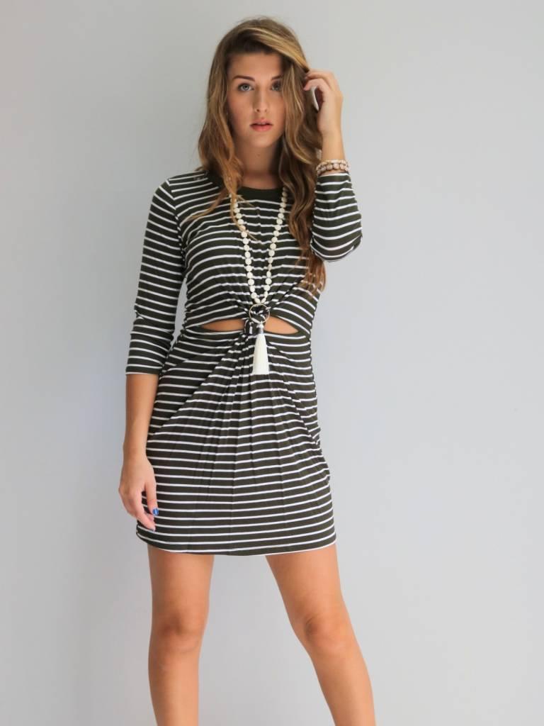 Olive Stripped Dress