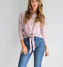 Dusty Mauve Tie Top