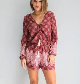 Long Sleeve Boho Romper