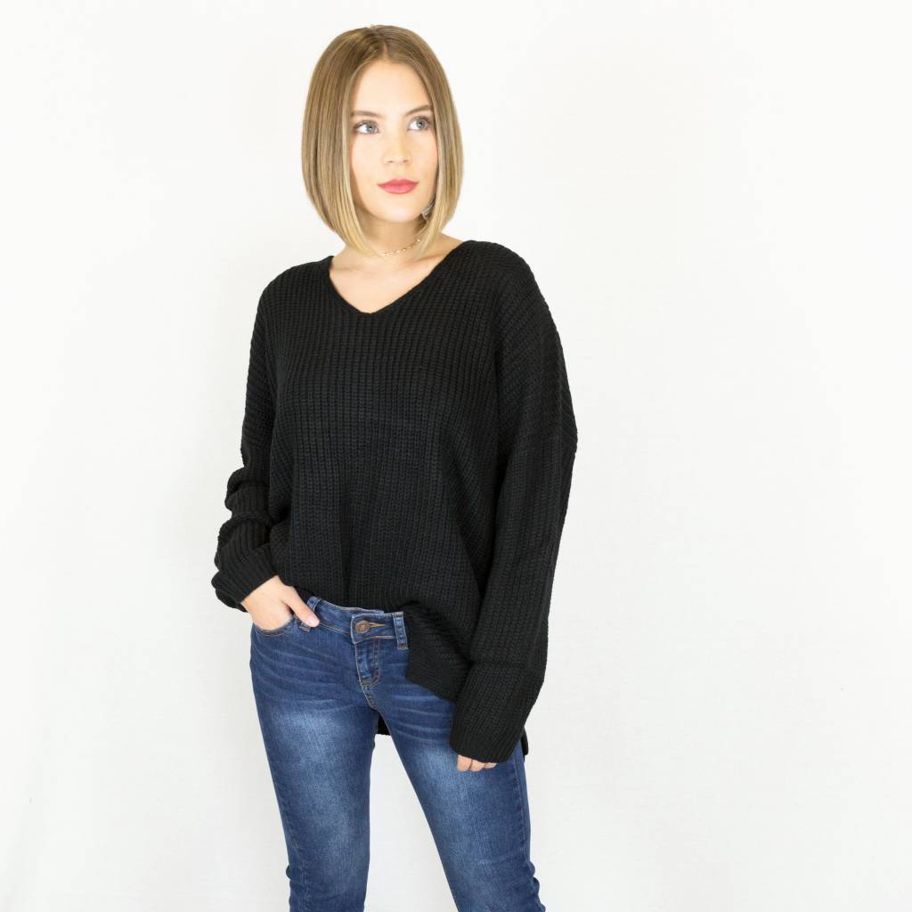 Black Knit Sweater