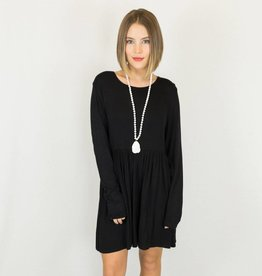 Black Babydoll Long Sleeve Dress