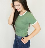 Two Toned Crop Tee