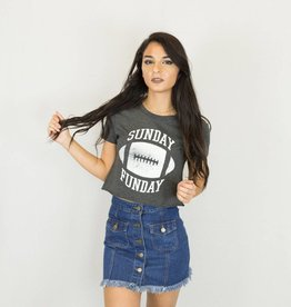 Sunday Funday Cropped Tee