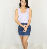 Lilac Scoop Neck Cropped Tank