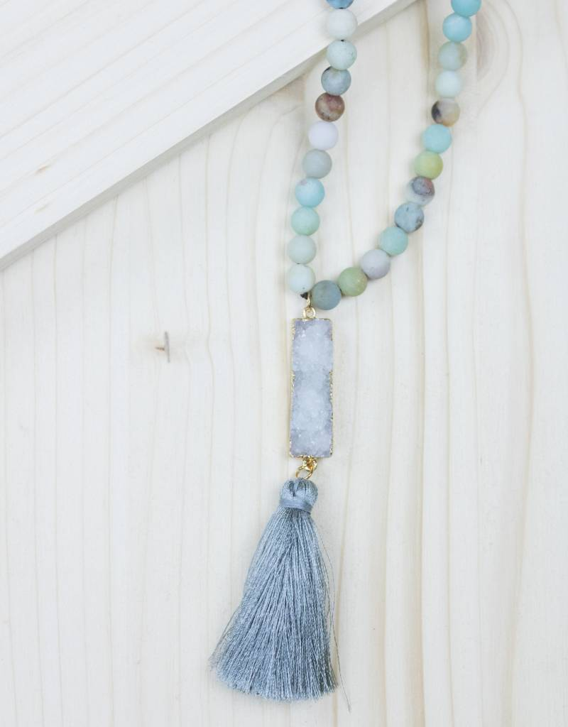 Stone Necklace With Tassel