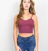 Spaghetti Strap Cropped Ribbed Tank