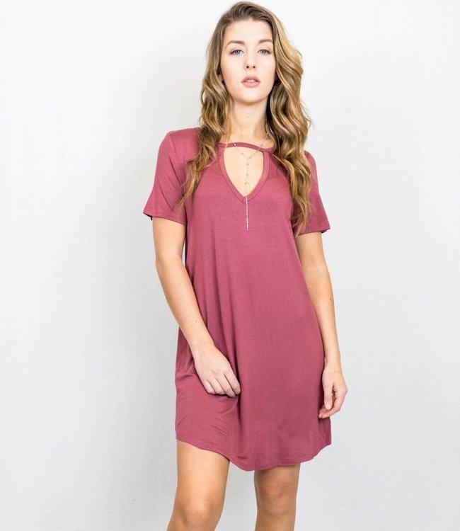Keyhole Cutout T-Shirt Dress