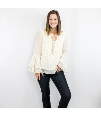 Cream Polka Dot Blouse