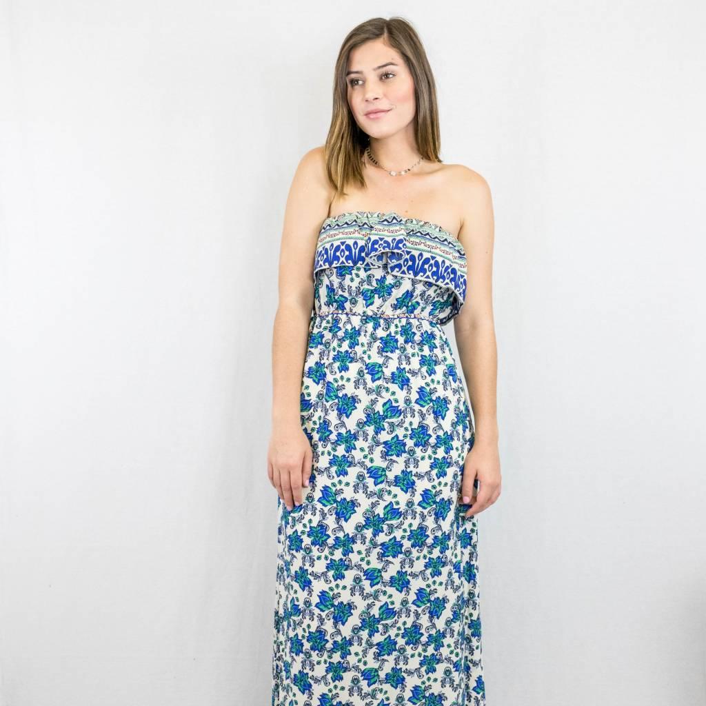 Floral Print Sleeveless Maxi