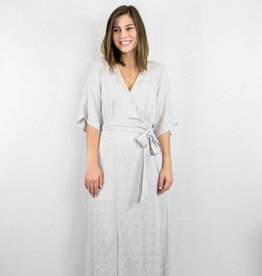 Grey Wrap Maxi Dress