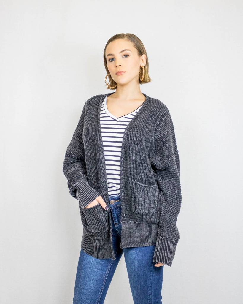 Lightweight Cable-Knit Cardigan