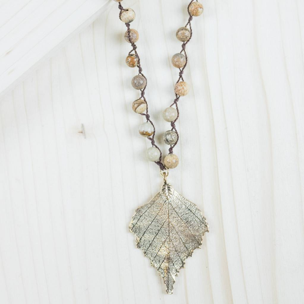 The copper closet golden leaf brown pendant necklace the copper golden leaf brown pendant necklace aloadofball Image collections