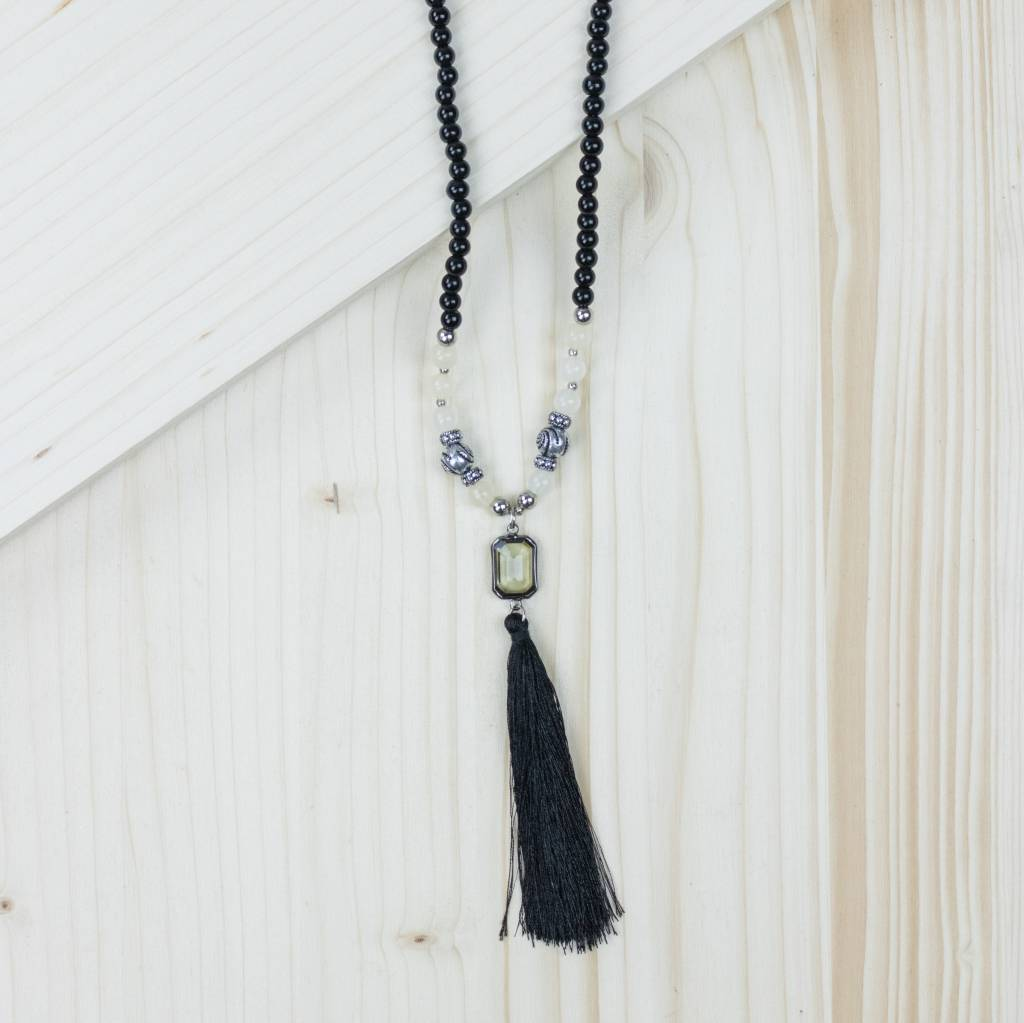 Black Tassel Necklace