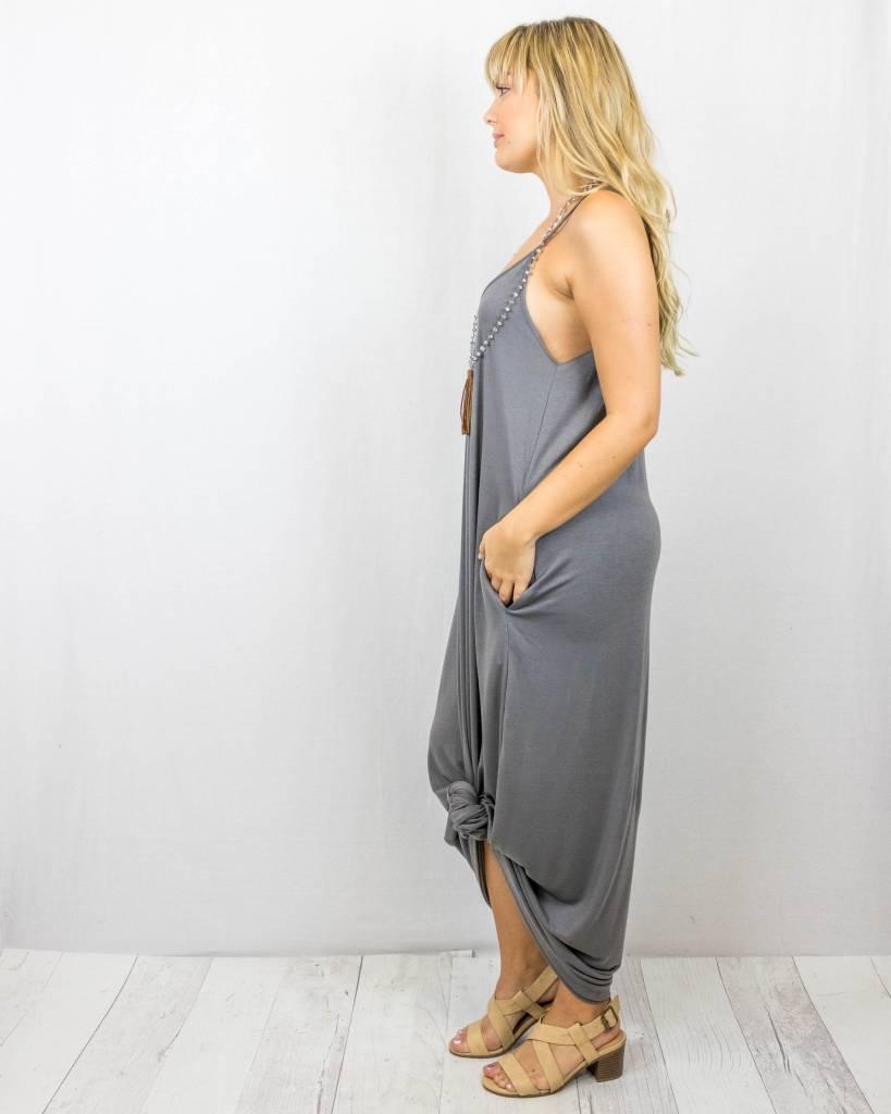 Spaghetti Strap Maxi Dress with Pockets