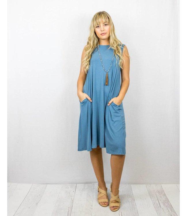 Tank Swing Dress With Pockets