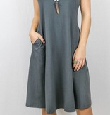Tank Fit and Flare Dress with Pockets